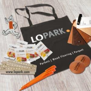 Lopark, Aachen, Kundengeschenke, Werbeartikel, Planung