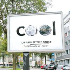City Light Board Juwelier Peter Stütz in Aachen