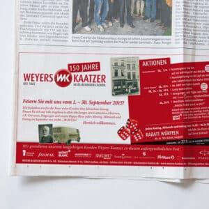 Weyers Kaatzer Zeitungsanzeige Aachen