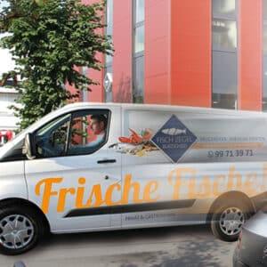 Fisch Zegel Aachen Burscheid Fahrzeugbeschriftung, Fahrzeugbeklebung